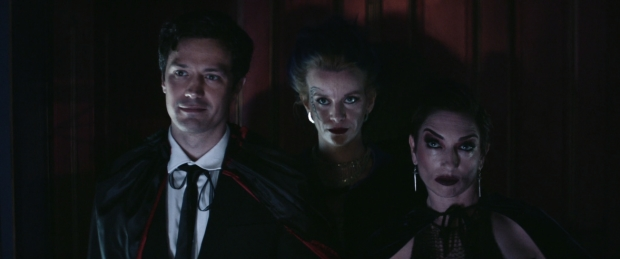"Christian Coulson, Naomi McDougall Jones, and Naomi Grossman in ""Bite Me"", Vampire Ball scene"