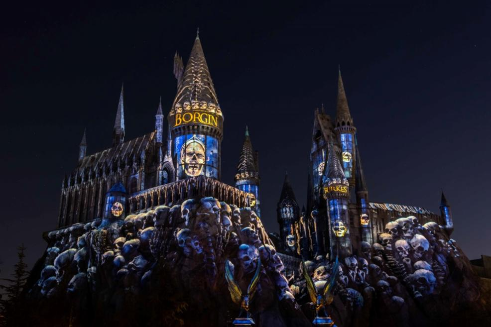 "Death Eaters can also be found in the ""Dark Arts at Hogwarts Castle"" show."