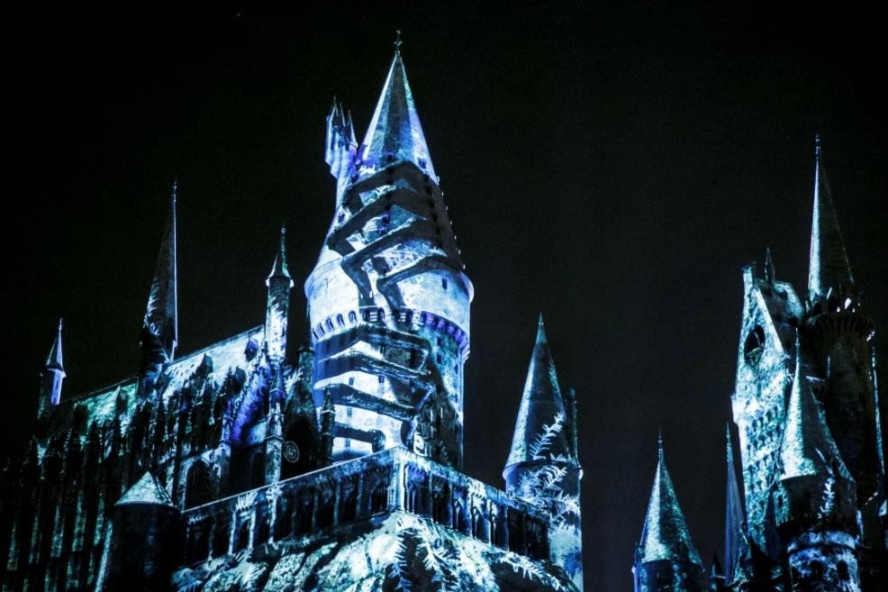 The castle is even taken over by Dementors during the show.