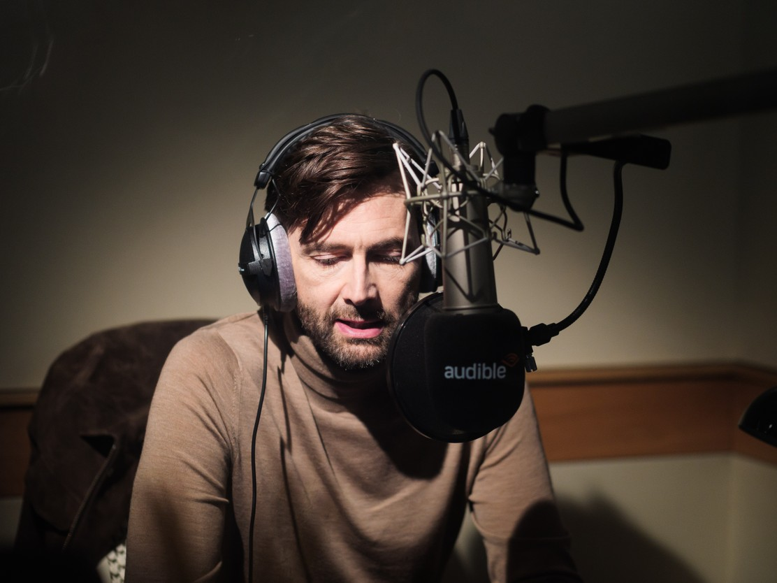 """David Tennant records """"The War of the Worlds"""" for Audible."""