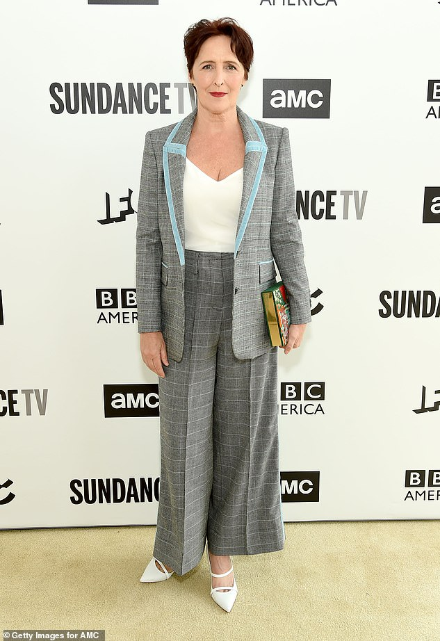 Fiona Shaw poses at the AMC Network Summit in New York City.