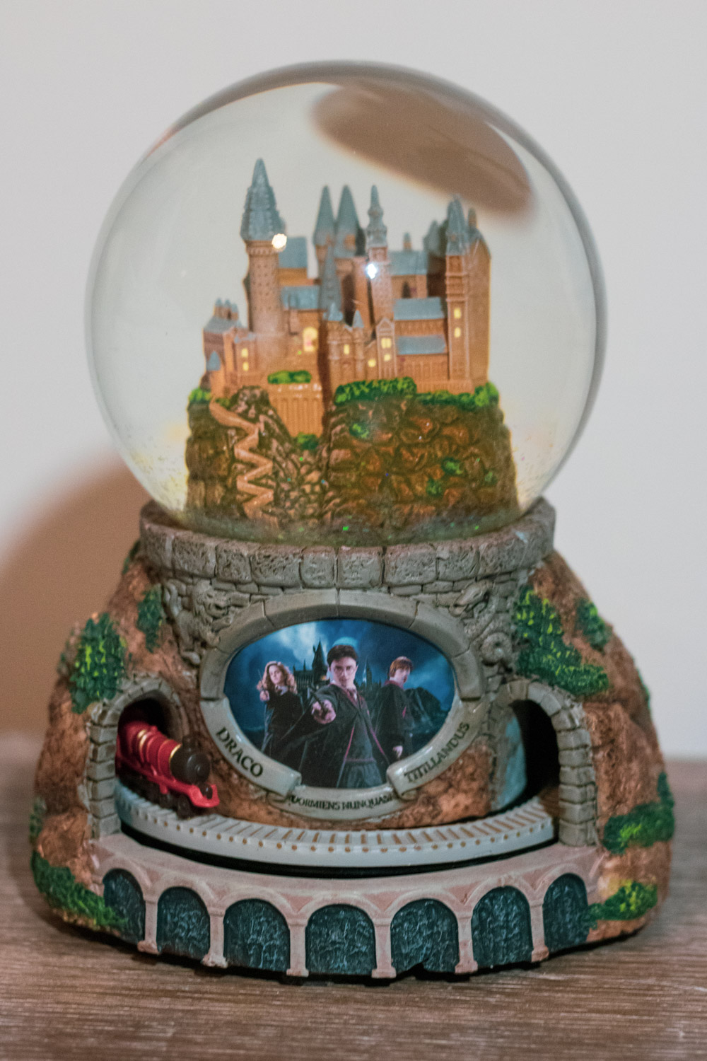 """Front view of """"HOGWARTS™ Express"""" Glitter Globe with no glitter falling"""