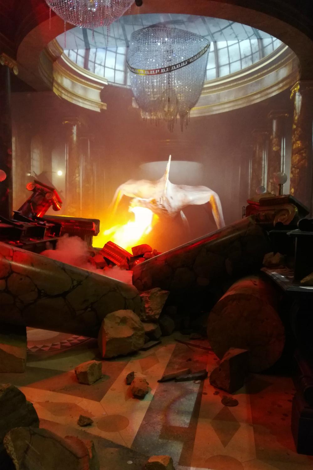 Gringotts opening at Warner Bros Studio Tour – Gringotts dragon fire attack