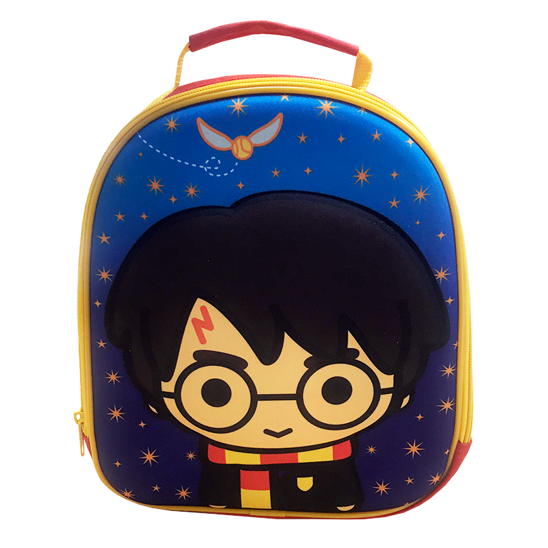 Harry Potter Lunch Back from Cool Clobber, featuring Chibi Harry Potter and a flying golden snitch