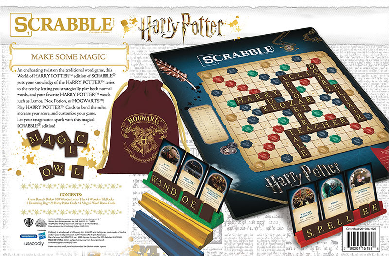 "Unlike regular ""Scrabble"", this ""Harry Potter""-themed game comes with ""Harry Potter"" cards, which allow players to earn more points."