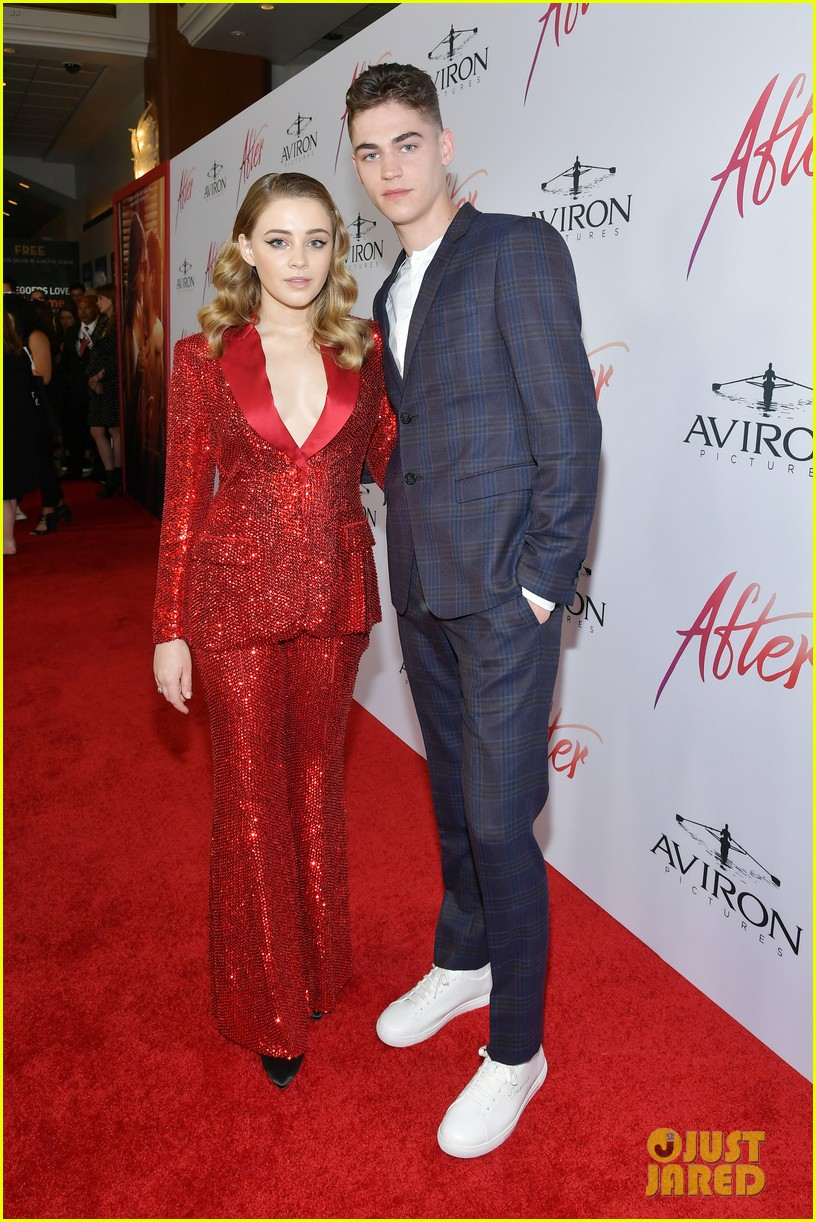 """Hero Fiennes-Tiffin and costar Josephine Langford at the L.A. premiere of """"After"""""""