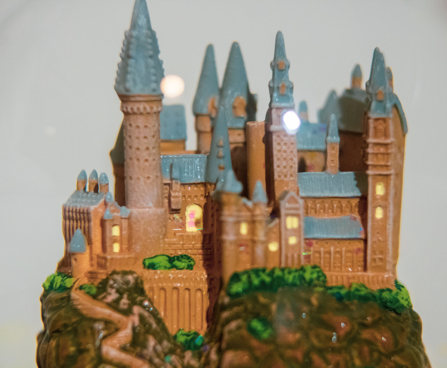 "Close-up of HOGWARTS™ Castle inside of the ""HOGWARTS™ Express"" Glitter Globe"