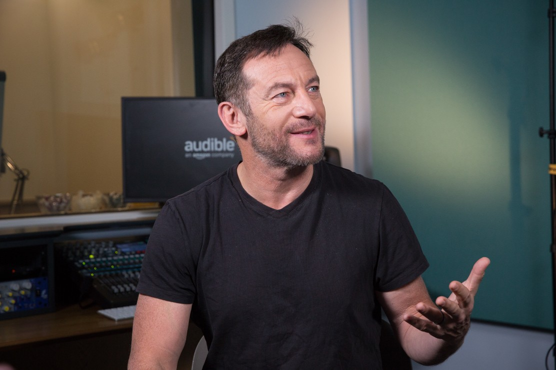 """Jason Isaacs takes a break from recording """"The Island of Doctor Moreau"""" for Audible."""