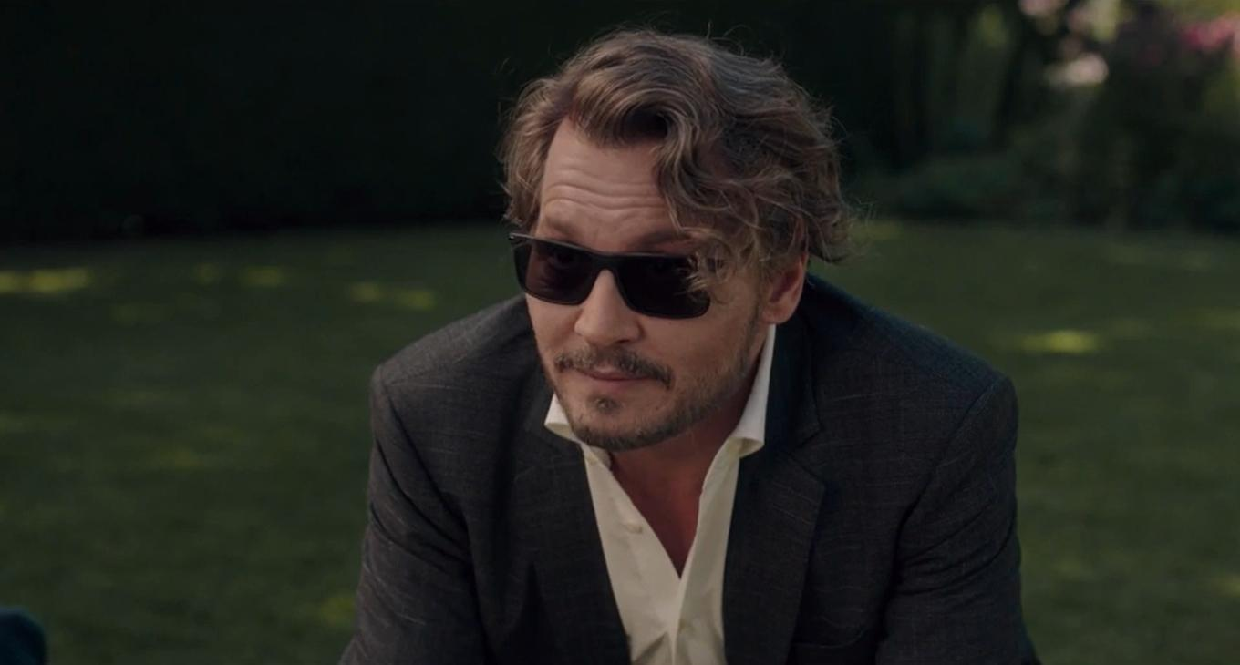 """Johnny Depp filming a scene from """"The Professor"""""""