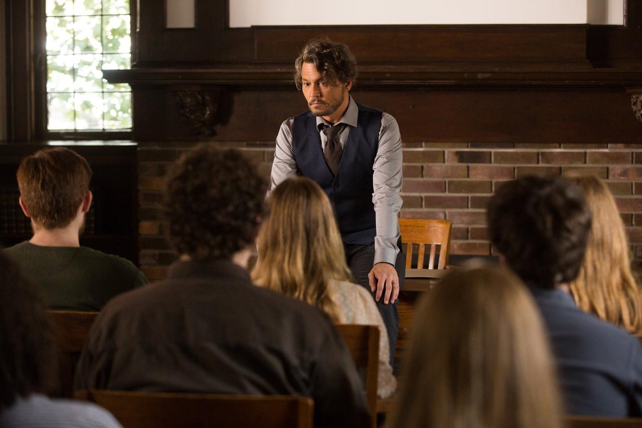 "Johnny Depp addresses his class in ""The Professor""."
