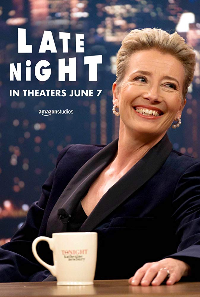"A film poster for Dame Emma Thompson's and Mindy Kaling's new film, ""Late Night"""