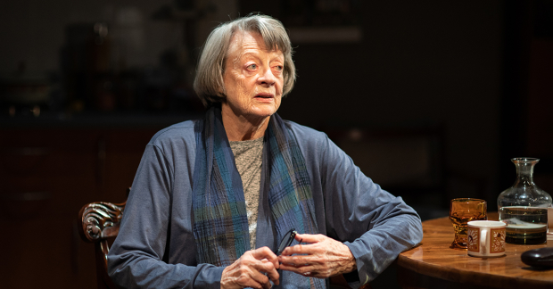 "Dame Maggie Smith looks pensive in ""A German Life""."