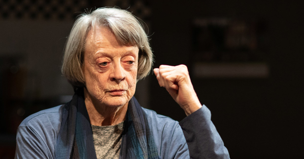 "Dame Maggie Smith reflects in ""A German Life""."