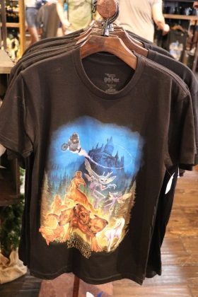 Here is another magical T-shirt to add to your collection featuring Hagrid and his creatures.
