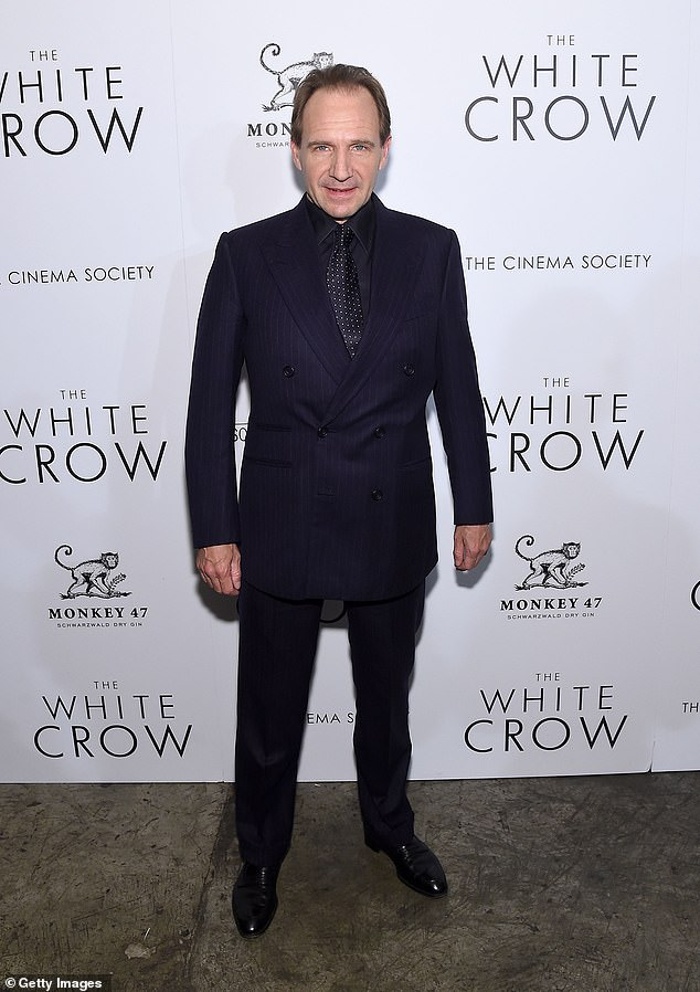 """Ralph Fiennes looking dapper as ever at a screening of """"The White Crow"""" in New York."""