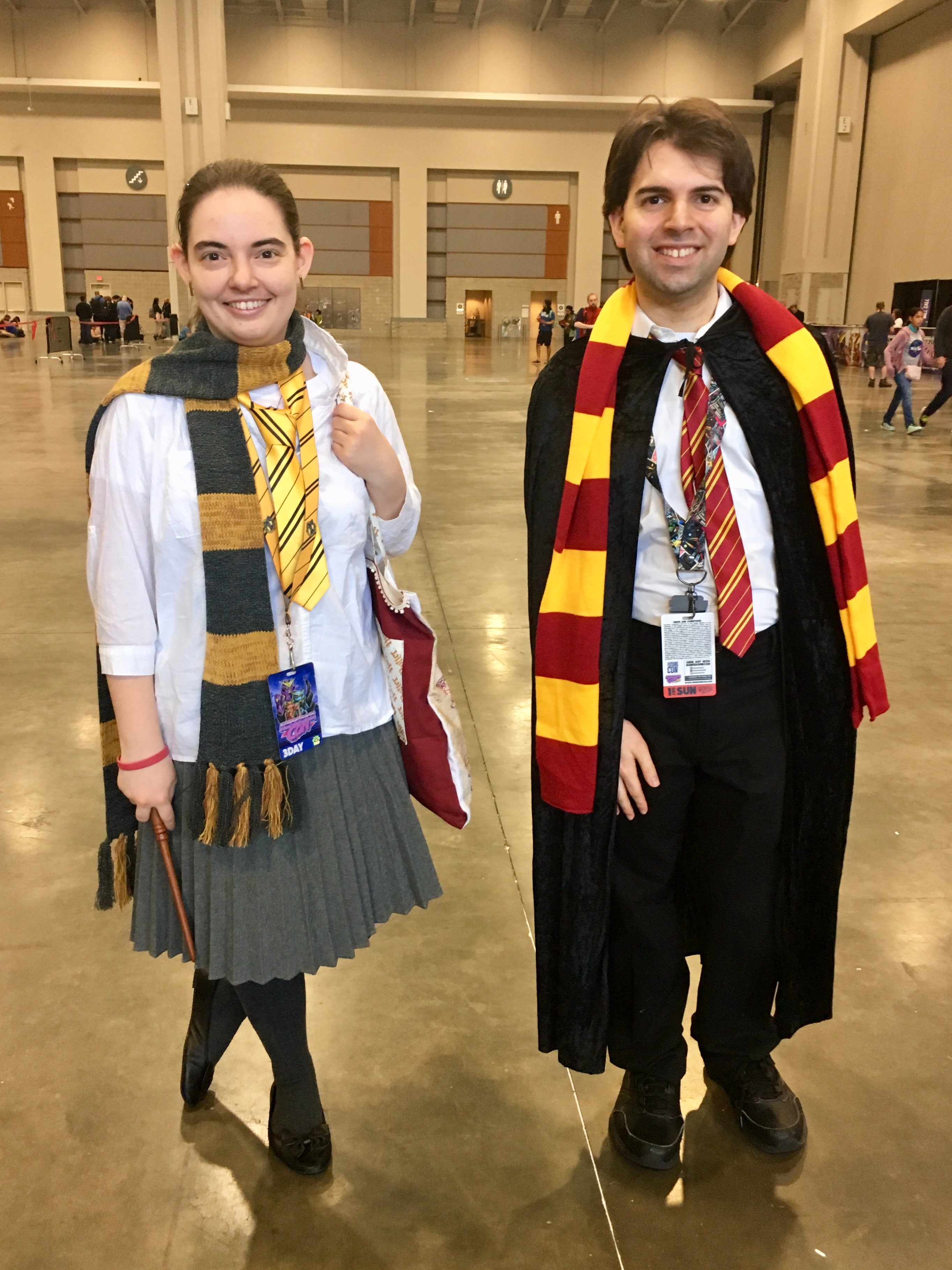 Two happy Hogwarts students!