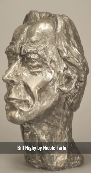 Bill Nighy is represented in a sculpture by Nicole Farhi.