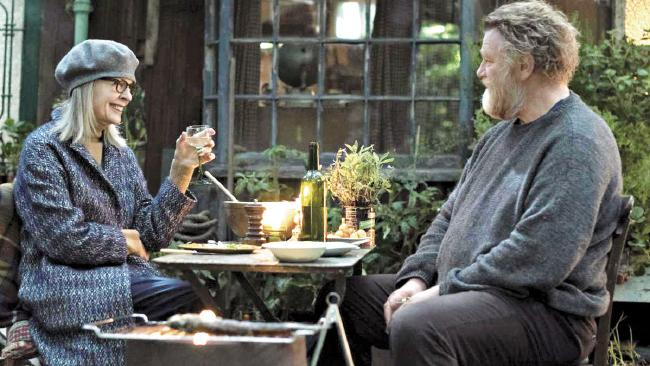 "Brendan Gleeson and Diane Keaton enjoy dinner in ""Hampstead""."