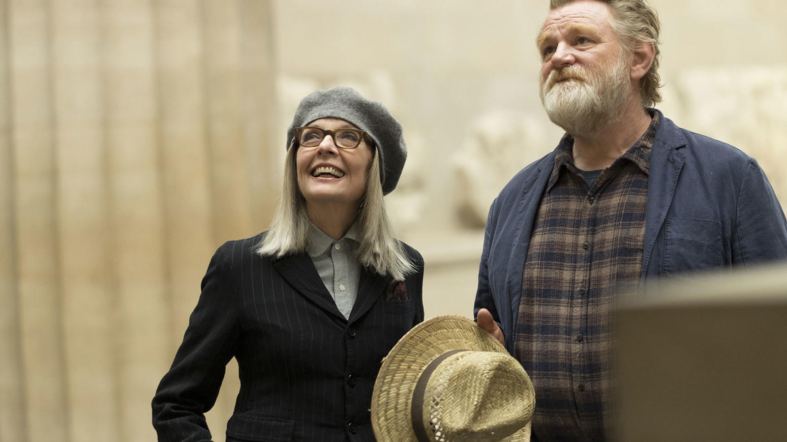 "Brendan Gleeson and Diane Keaton enjoy one another's company in ""Hampstead""."