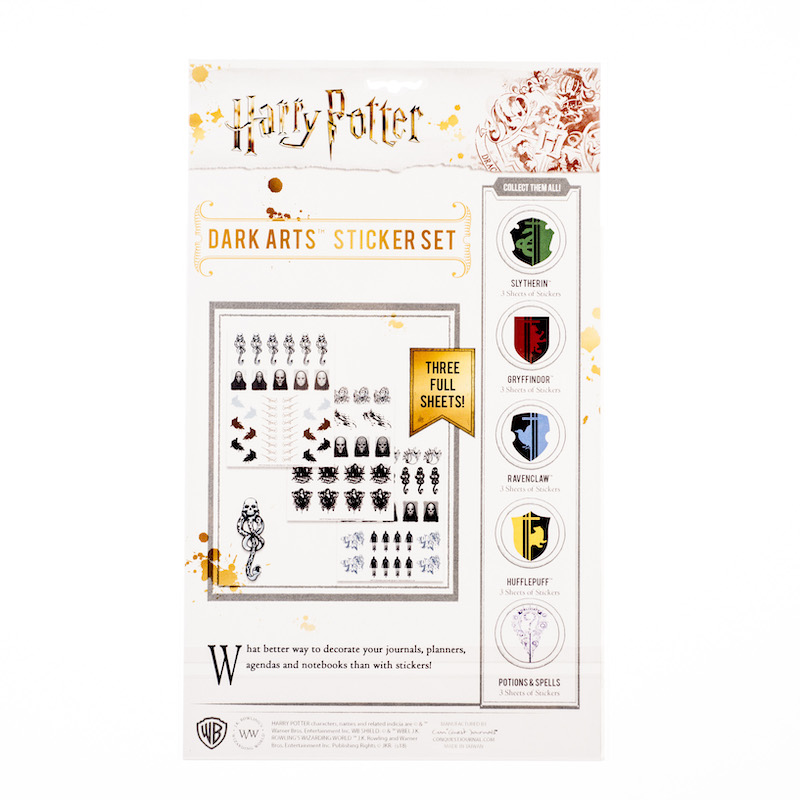 ConQuest HP Dark Arts Sticker Sheet packaging, back