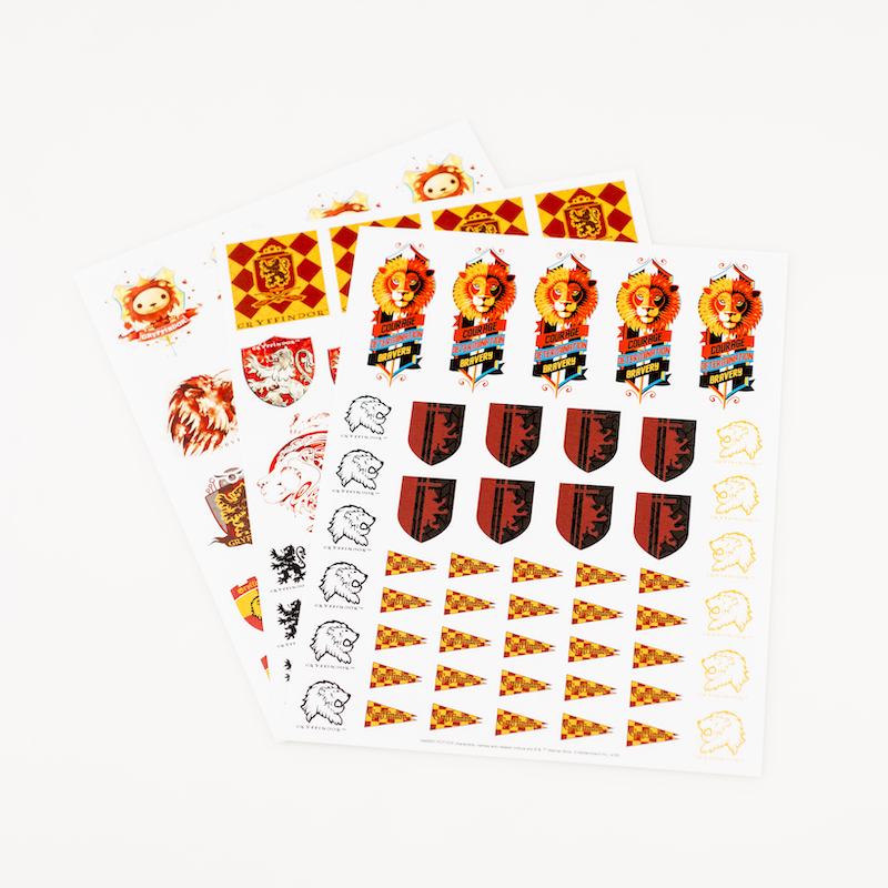 ConQuest HP Gryffindor House Sticker Set, 3 sheets