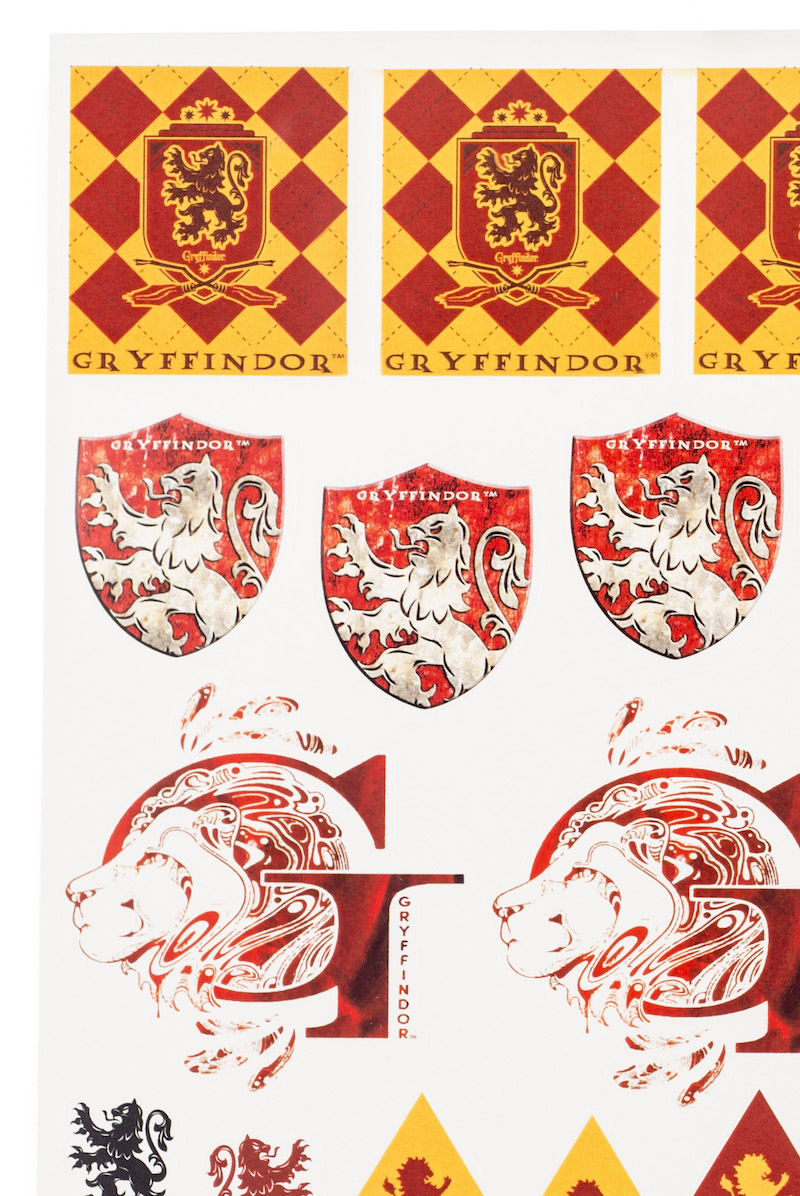 ConQuest HP Gryffindor House Sticker Set close-up crests