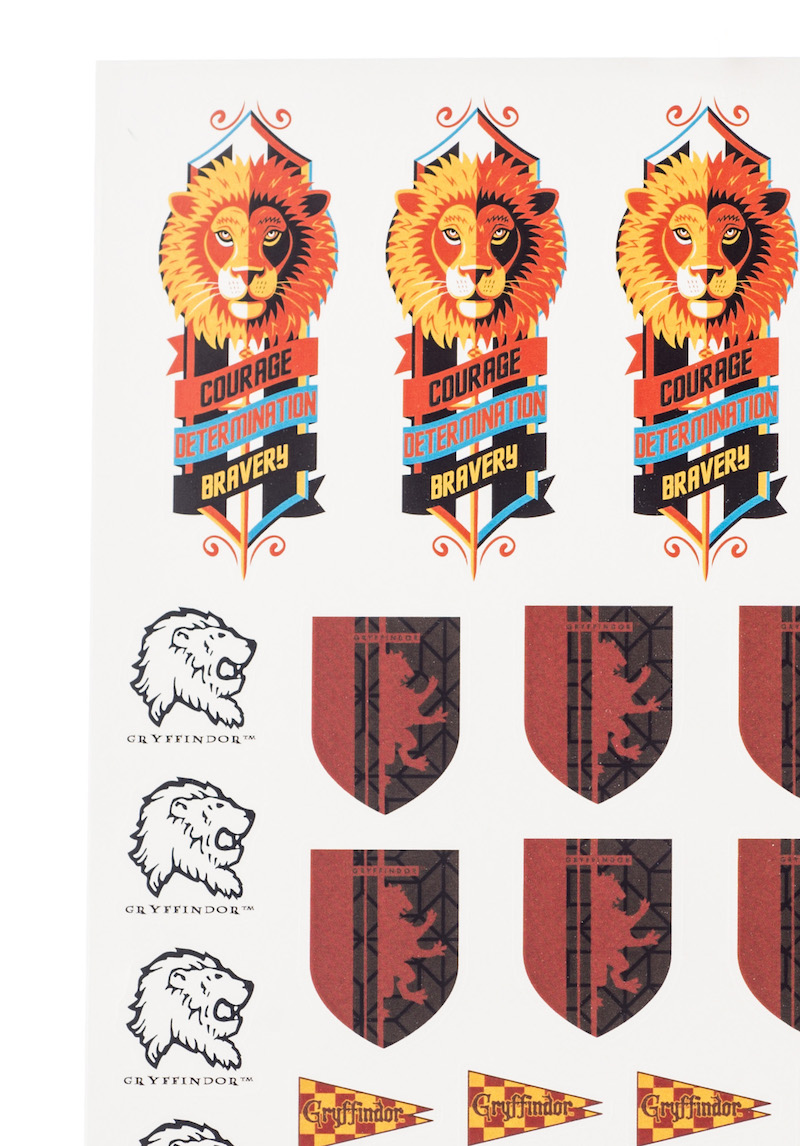 ConQuest HP Gryffindor House Sticker Set close-up