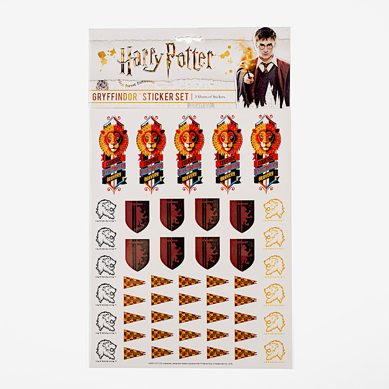 ConQuest HP Gryffindor House Sticker Set packaging, front