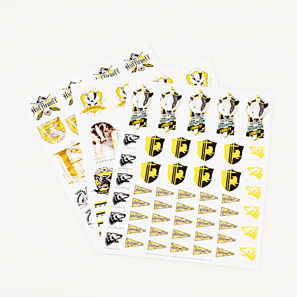 ConQuest HP Hufflepuff House Sticker Set, 3 sheets