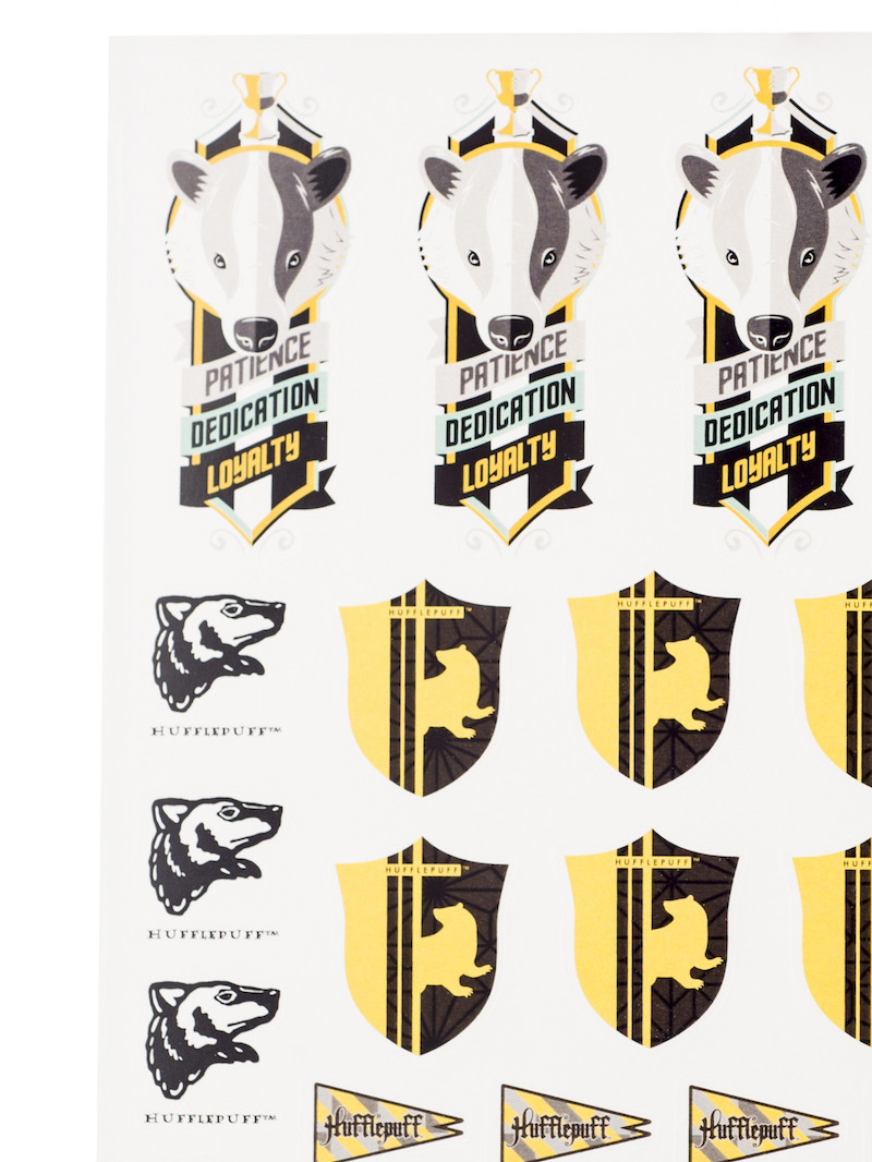 ConQuest HP Hufflepuff House Sticker Set close-up