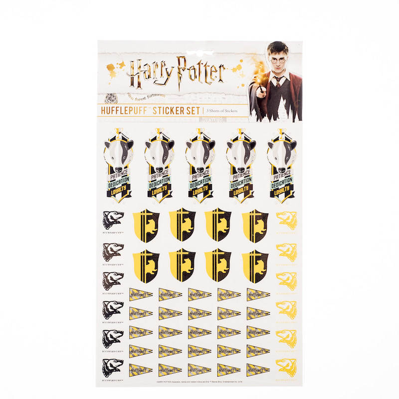 ConQuest HP Hufflepuff House Sticker Set packaging, front