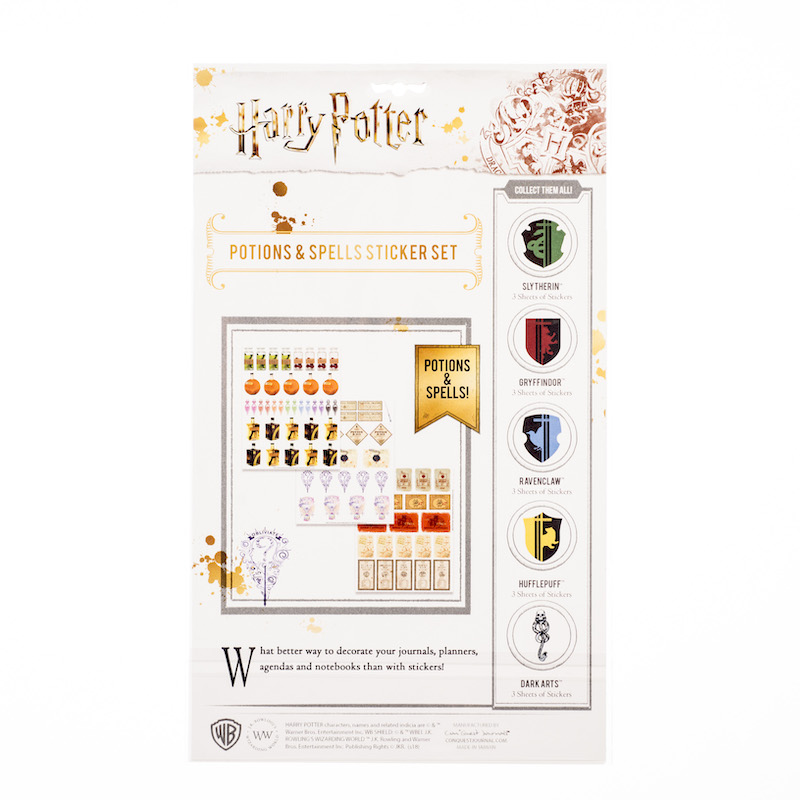 ConQuest HP Potions and Spells Sticker Set packaging, back