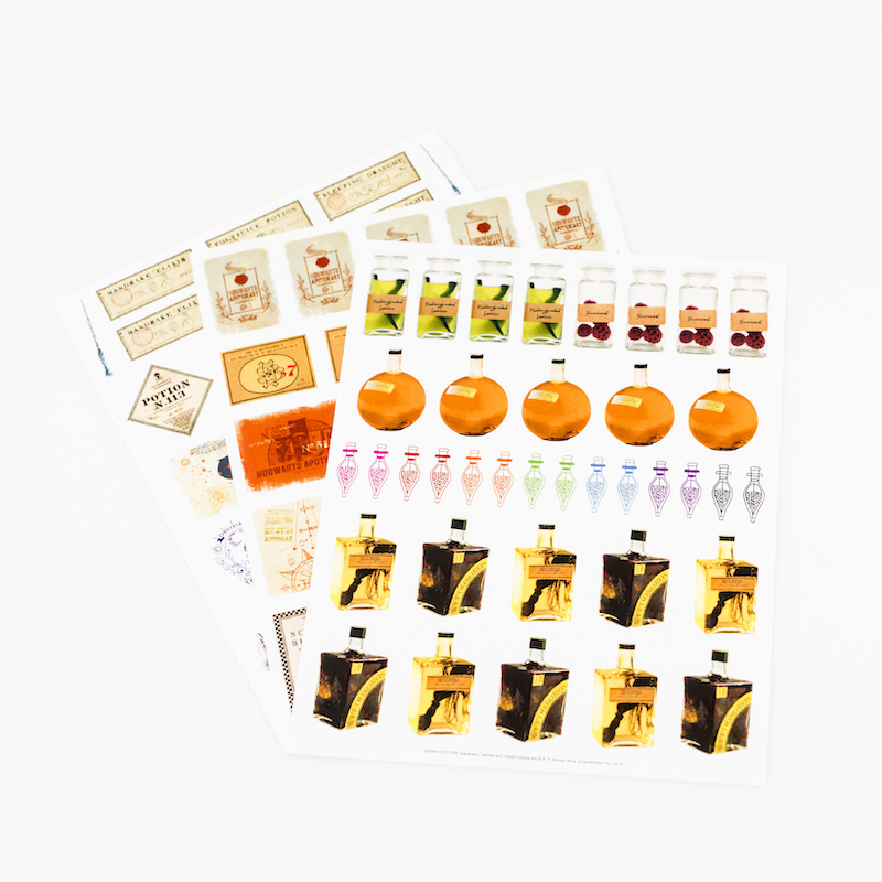 ConQuest HP Potions and Spells Sticker Set, 3 sheets