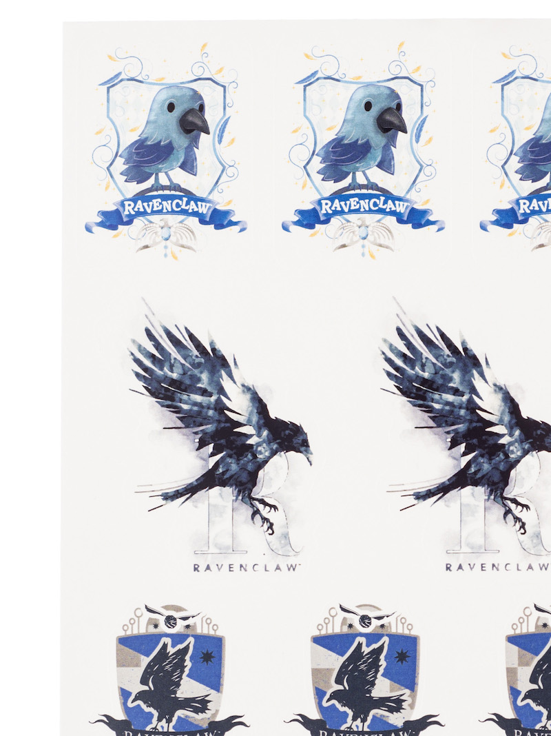 ConQuest HP Ravenclaw House Sticker Set close-up baby raven crest