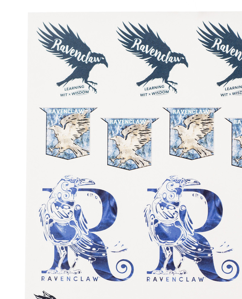 ConQuest HP Ravenclaw House Sticker Set close-up crests