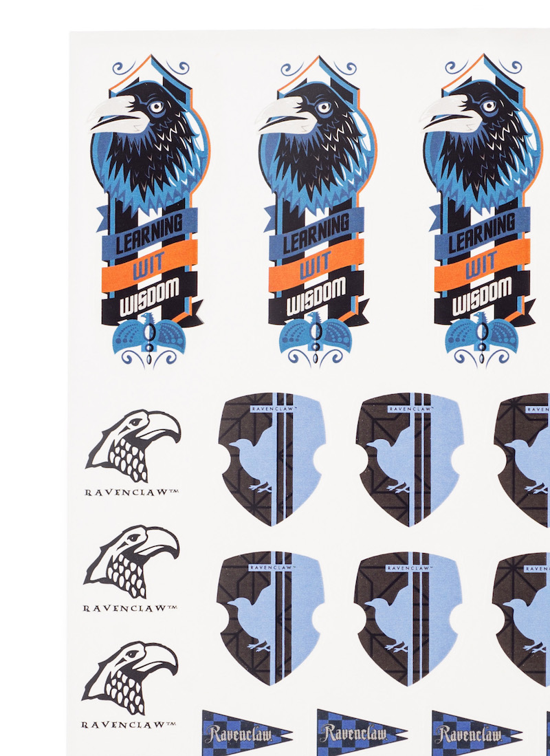 ConQuest HP Ravenclaw House Sticker Set close-up