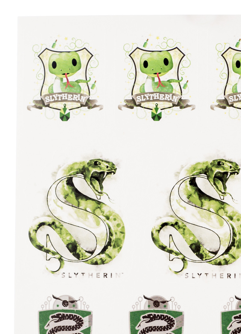 ConQuest HP Slytherin House Sticker Set close-up baby snake crest