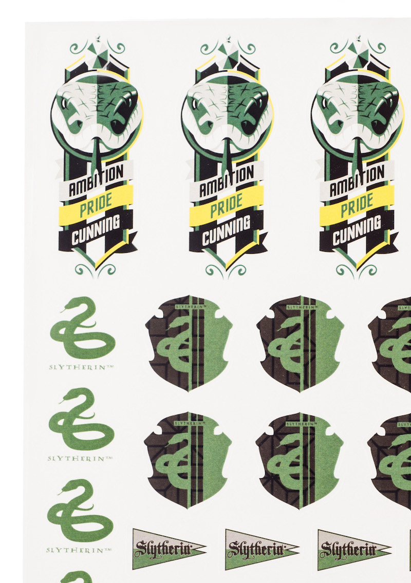 ConQuest HP Slytherin House Sticker Set close-up crests