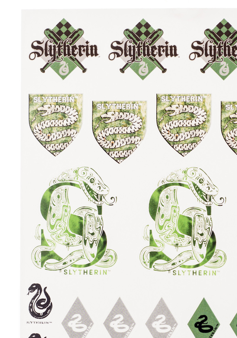 ConQuest HP Slytherin House Sticker Set close-up