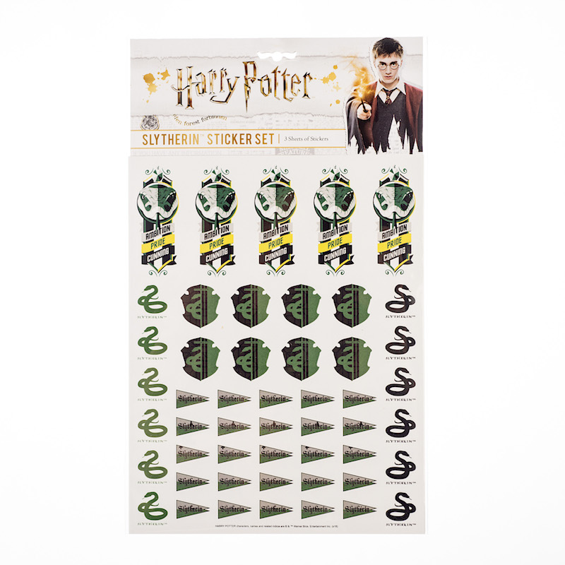 ConQuest HP Slytherin House Sticker Set packaging, front