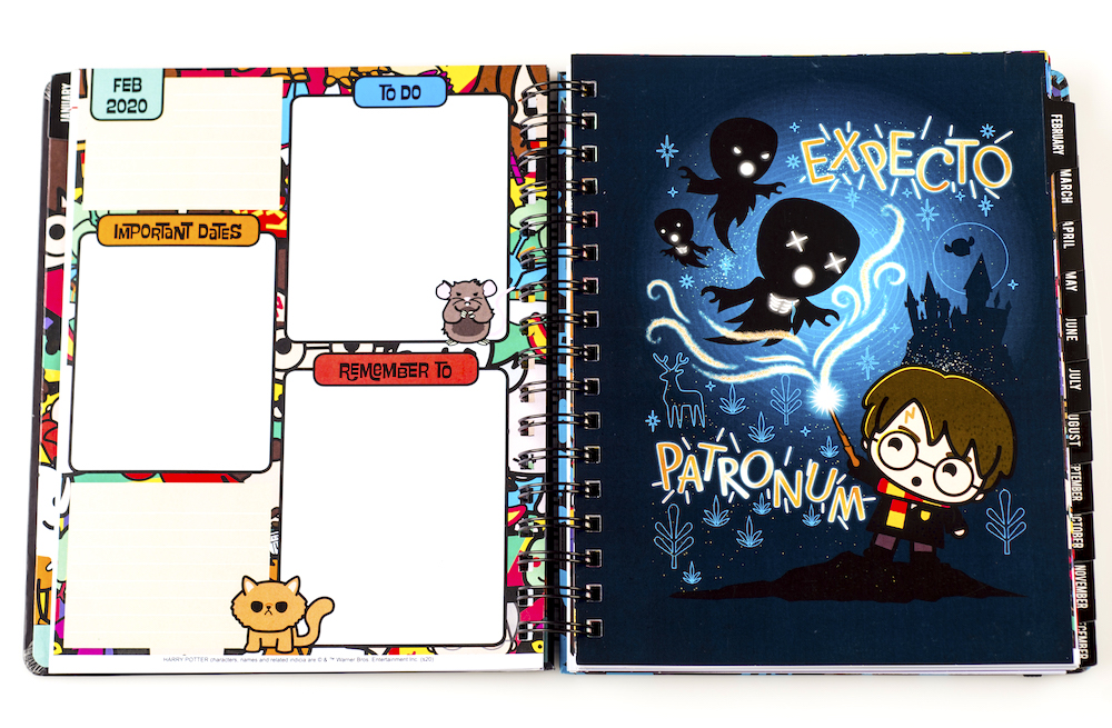ConQuest Harry Potter Charms Weekly Planner month tab