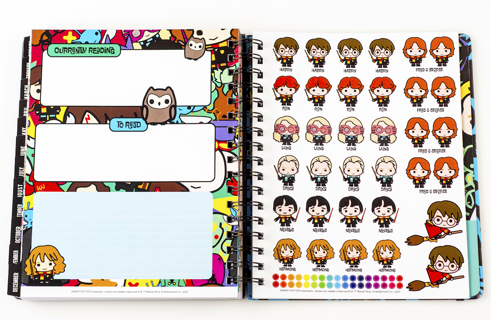 ConQuest Harry Potter Charms Weekly Planner, stickers page
