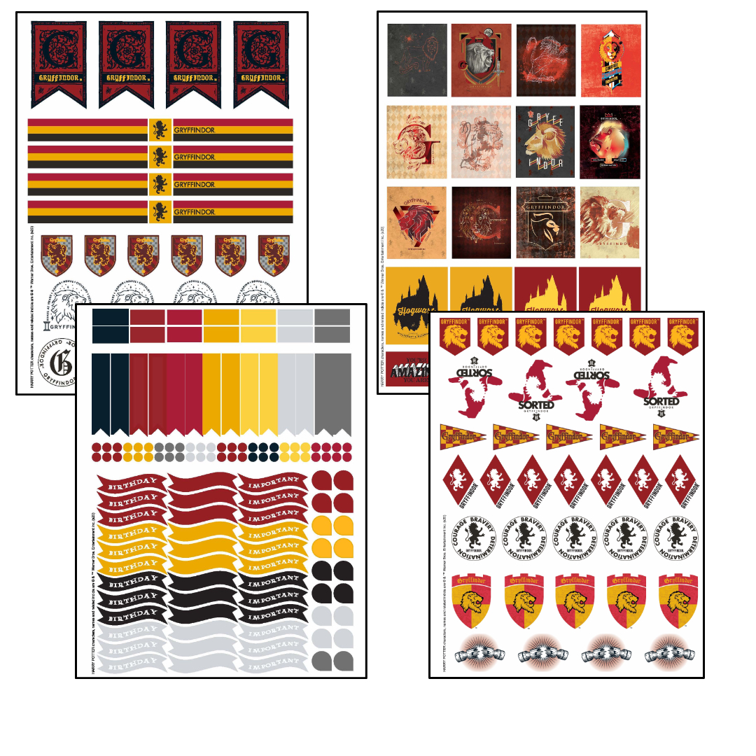 ConQuest Harry Potter Gryffindor Planner stickers