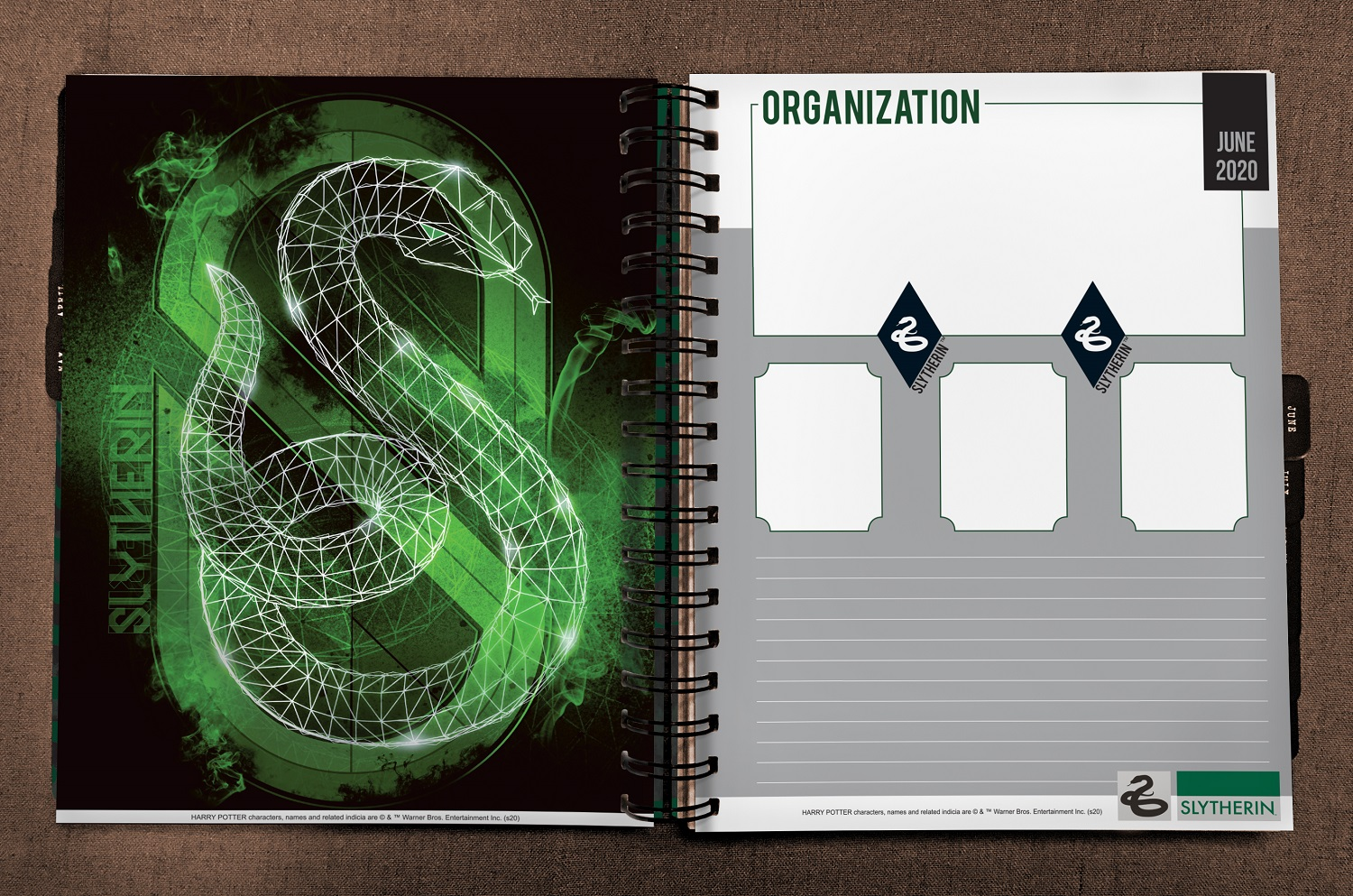 ConQuest Harry Potter Slytherin 2020 inside spread