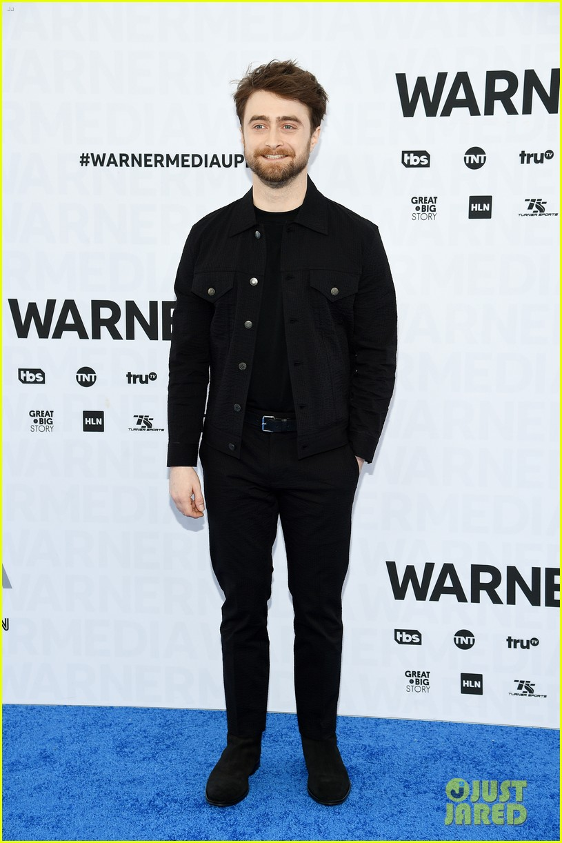 Daniel Radcliffe smiles for the camera at the WarnerMedia Upfronts.
