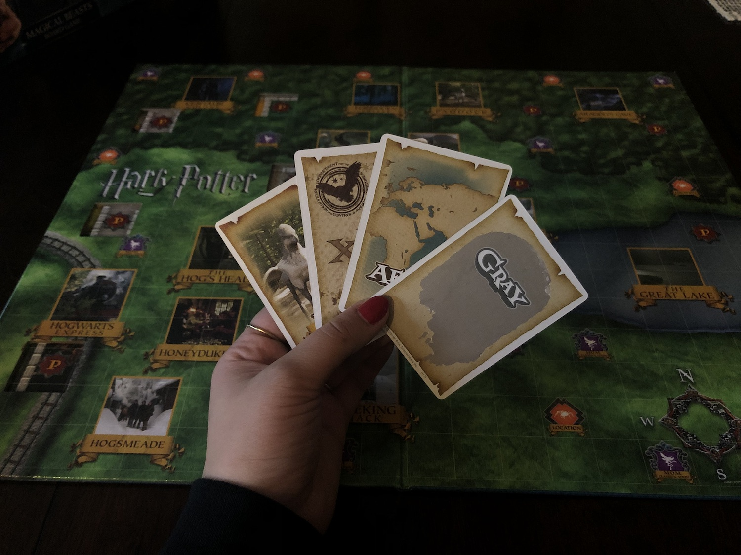 Harry Potter Magical Beasts – cards in hand