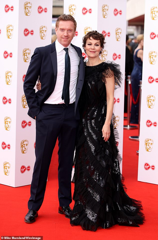 Helen McCrory poses with husband Damian Lewis at the BAFTA TV Awards.