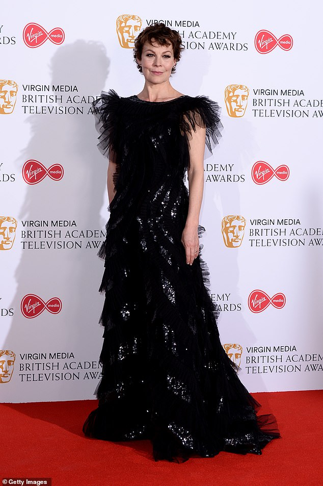 Helen McCrory cut a stunning figure on the red carpet at the BAFTA TV Awards.