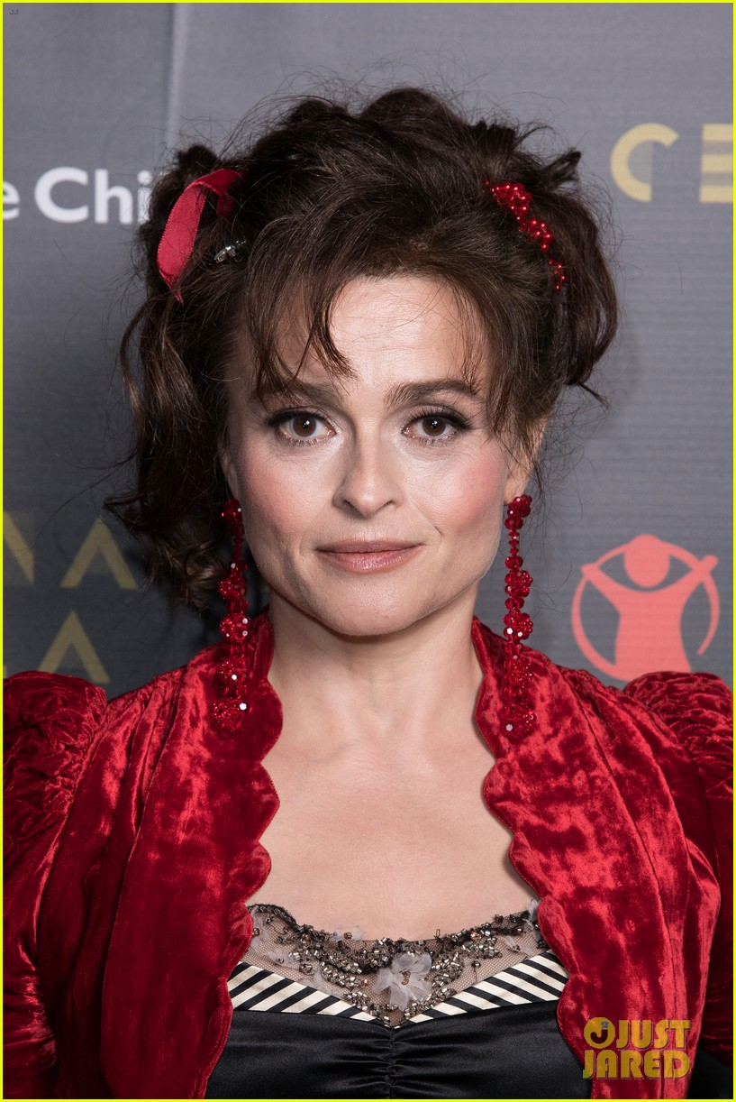 Helena Bonham Carter smiles for the camera at the Save the Children Gala.