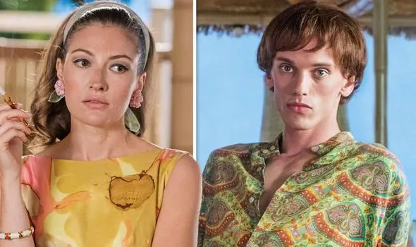 """Kelly Macdonald portrays Princess Margaret and Jamie Campbell Bower plays Mick Jagger in the final episode of Season 3 of """"Urban Myths""""."""
